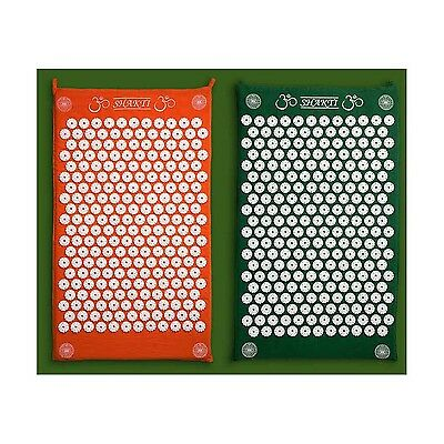The Green Shakti Mat (Bed of Nails Mat) 100% Cotton Most Acupressure Points i...
