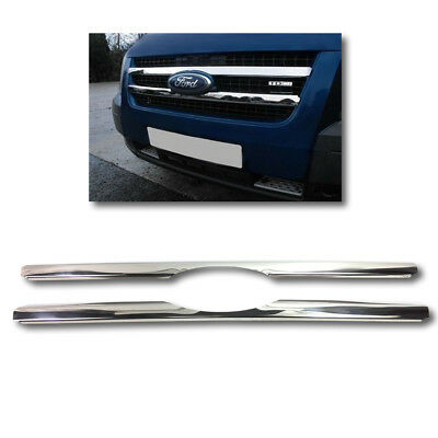 FORD TRANSIT / TOURNEO FRONT GRILLE CHROME STAINLESS STEEL 2006 to 2013