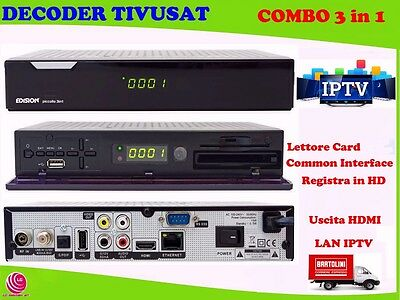 Decoder Tivusat Combo 3 In 1 Full Hd Satellitare