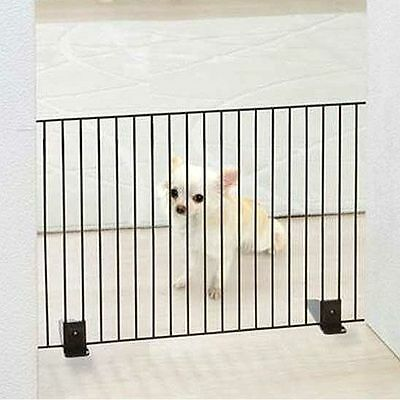 Iris Freestanding Metal Wire Pet Gate Safety Dog Barrier Stair Gate Protection