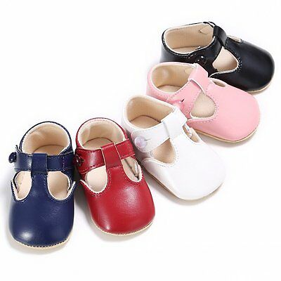Baby Soft Sole Leather Shoes Newborn Girl Toddler Crib Moccasin Prewalker 0-12M