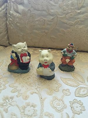 3 Pigs Figurines Collectables..