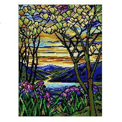 Deco-Line Printed Tapestry/Needlepoint Canvas – Landscape with Iris & Magnolia