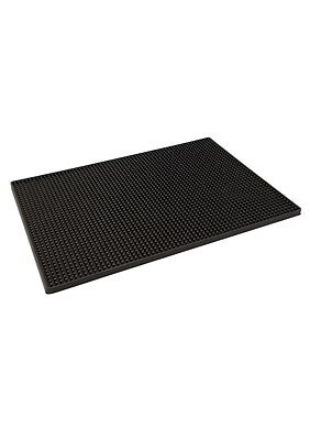 "Rubber Bar Mat 18"" x 12"" Black Drip Mat Runner Bar Pub Drink Catering"