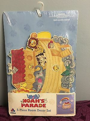 Noahs Parade Nursery Decor Set Wall Hanging Dolly Brand Made in USA Baby Ark