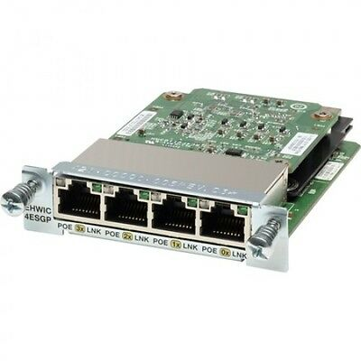 POE Cisco EHWIC-4ESG-P 4 Ports Interface Cards  POE  EHWIC-4ESGP