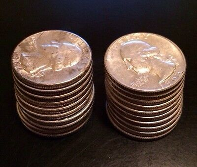90% Silver Pre-1965 Washington Quarters (20 Quarters) $5 Face Value 3.57 Asw
