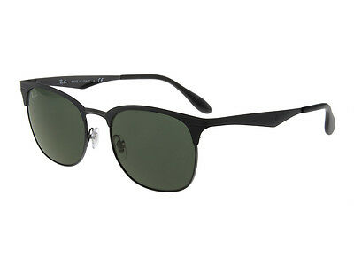 Ray-Ban RB3538 186/71 Black Frame Green Classic 53mm Lens Sunglasses