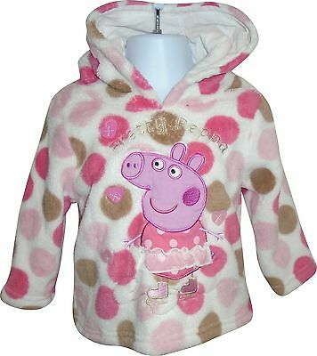 USED Baby Girls George Peppa Pig Decal Wooly Hoody Size 9-12 Months (E.K)