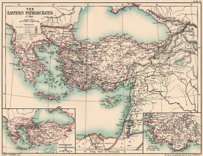 EASTERN PATRIARCHATES C750.Constantinople(Istanbul)Antioch Alexandria 1902 map