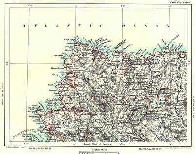 SUTHERLAND/CAPE WRATH. Loch Enard Assynt Stomine. Scottish Highlands 1893 map