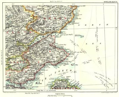 FIRTHS OF FORTH & TAY.Fife Perth Kinross Dundee Angus Forfar Carnoustie 1893 map