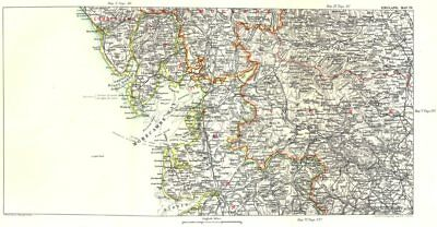 N LANCASHIRE & W YORKSHIRE. Kendal Leeds Morecambe Bay Ribble Valley 1893 map