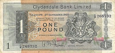 Scotland 1 Pound  2.9.1963   P 197  Series  C/B  circulated Banknote
