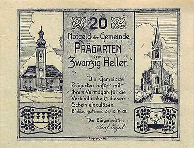 Austria  20 Heller   31.12.1920  Uncirculated Banknote , G13