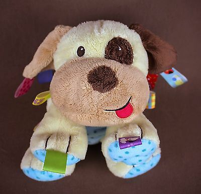 """Taggies * Puppy Dog * lovey security Plush Doll SOFT 11"""" baby toy sensory"""