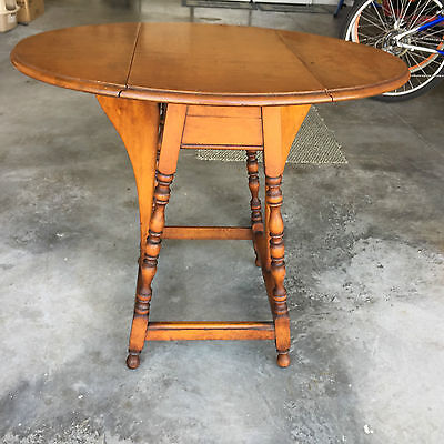 Antique Side Table Drop Leaves by Michigan Chair Co. Furniture Grand Rapids