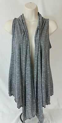 Womens Maternity Oh Baby Motherhood Size Small Open Front Cardigan Black Gray
