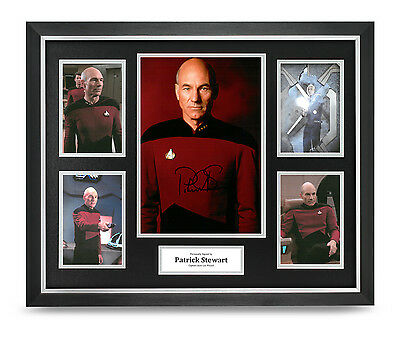 Patrick Stewart Signed Photo Large Framed Display Star Trek Autograph COA