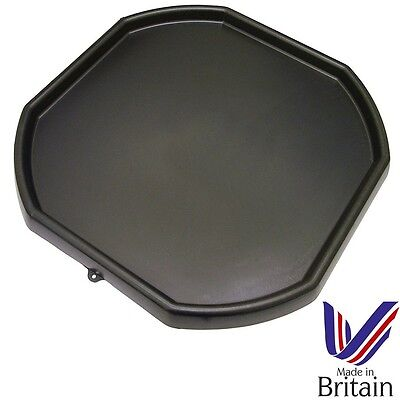 Large Black Plastic Mixing Tray Kids Play Sand Water Builders Spot for Cement