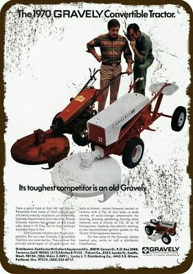 1970 GRAVELY Convertible Tractor Vintage Look Replica Metal Sign
