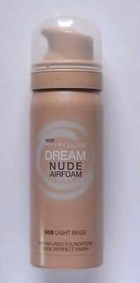 Maybelline Dream Nude Airfoam 005 Light Beige Base Maquillaje