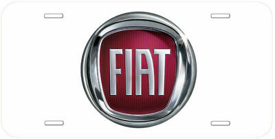 Fiat Aluminum Novelty Car License Plate Black-White-Yellow-Gold-Silver