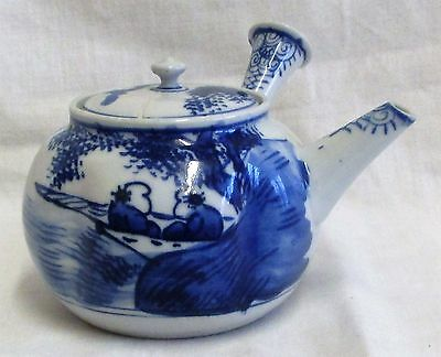 "4"" Vintage Signed Japanese Blue & White Teapot"