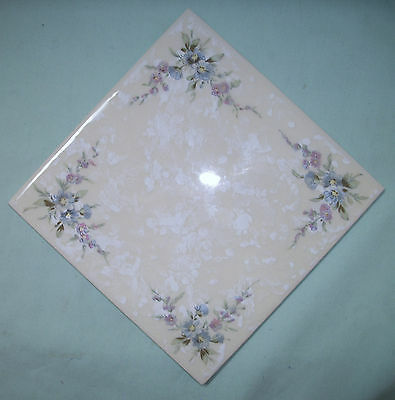 "VILLEROY & BOCH Germany 6"" x 6"" FLORAL Ceramic TILE - 54 Available"
