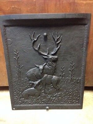 Antique Cast Iron Summer Fireplace Cover