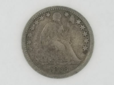 1858 Seated Liberty Half Dime Good Condition - 5448