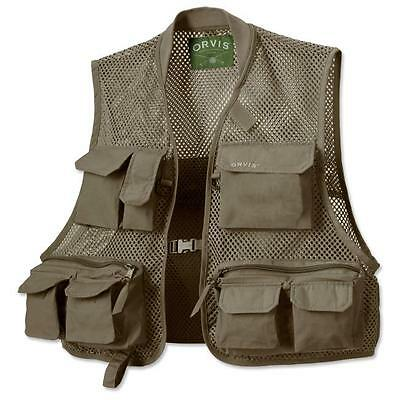 Orvis Clearwater Mesh Fishing Vest Olive (Sizes S, M, L, Xl, Xxl)