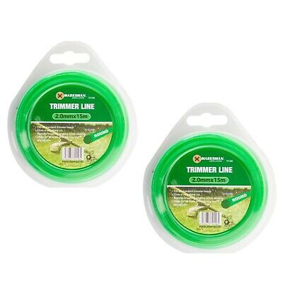 15M STRONG STRIMMER LINE 2mm Electric Cord Wire Garden Grass Trimmer Cut