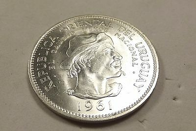 Uruguay 10 Peso 1961 High Condition