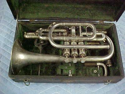 Antique Grand Rapids Musical Company  Wizard B-flat & C Cornet