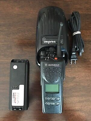 Motorola XTS3000 800 MHz Radio With Battery Antenna And Charger Free Programming