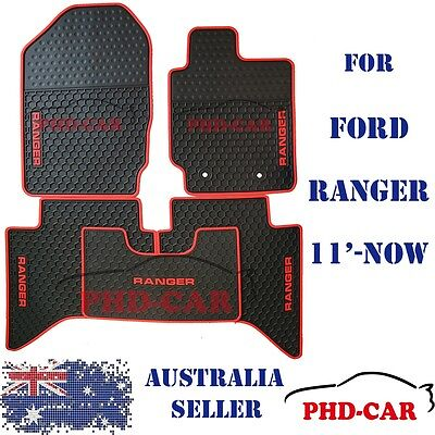 All weather Tailor Made rubber floor mats for Ford Ranger PX PX2 11-17