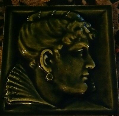 Antique American Portrait Tile