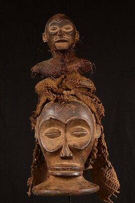 Old Tribal Large Chokwe Rasta Mask 032