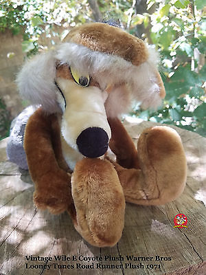 Vintage Wile E Coyote Plush Warner Bros Looney Tunes Road Runner Plush 1971