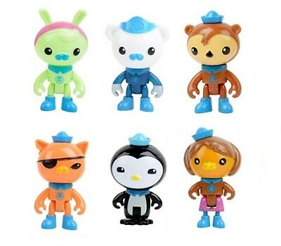 Octonauts Capt Barnacles Playset 6 Figure Cake Topper * USA SELLER* Toy Doll Set
