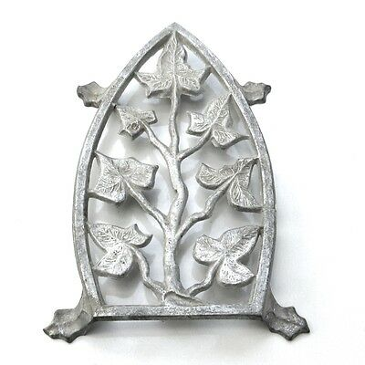 Vintage French Cast Aluminum Trivet for Iron, Ivy Design
