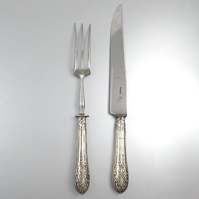 Antique FrenchSilver Clad Carving Set, Fork and Knife, Neoclassic, Paris