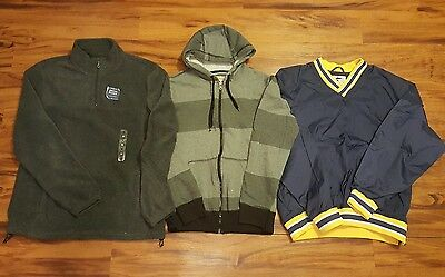 Lot of 3 Mens Jackets Hoodies Pullovers Size Medium