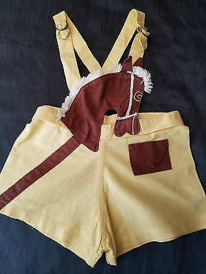 Toddler Boy HOBBY HORSE Sunsuit Romper SHORTS Child's Vintage 1950's