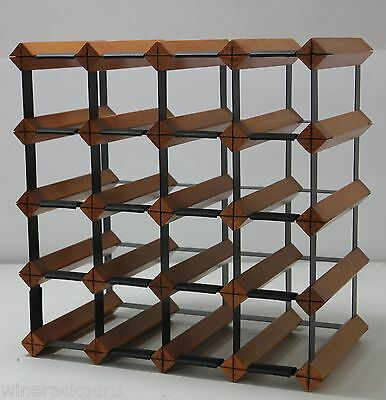 20 Bottle Timber Wine Rack -  Mahogany - Your Complete Home Wine Storage