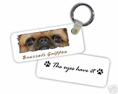 "Brussels Griffon # 2  "" The Eyes Have It  ""  Key  Chain"