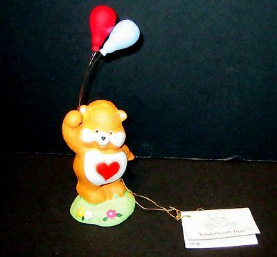 Vintage Care Bear FUNSHINE Ceramic Figurine With Heart and Baloons  w/tag   #7