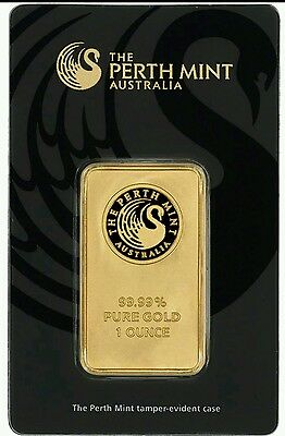1 oz. Gold Bar - Perth Mint - 99.99 Fine in Assay