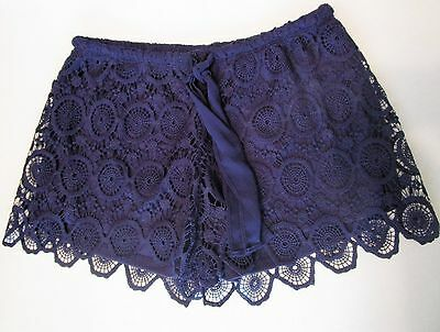 NICE Girl's HEART & SOUL Lacey Blue Shorts sz M Juniors